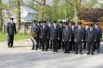 Nástup hasičů před oslavou svatého Floriána,