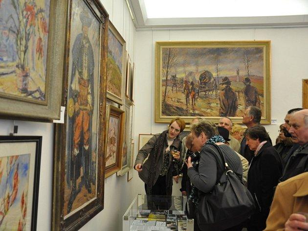 V den nedožitých 99. narozenin dostal František Strážnický  v Moravské Třebové svoji  galerii.