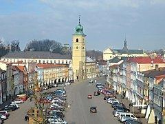 Zájemcům o prohlídku města se naskytl takovýto pohled na náměstí.