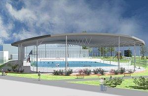 Vizualizace zastřešení zimního stadionu ve Svitavách.
