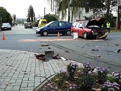 Při autonehodě na křižovatce v Moravské Třebové byly zraněny dvě ženy