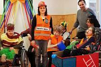 Karnevalový rej Speciální základní školy Bystré.