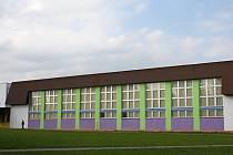 Tělocvična Základní školy Na Lukách v Poličce.