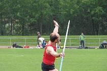Druhé kolo druholigové soutěže mužů v lehké atletice.