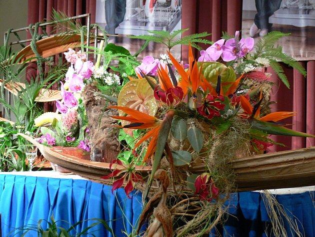 Letos floristé vsadili na květiny z tropické exotiky. A bylo se na co dívat