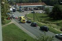 K bouračce došlo poblíž čerpací stanice OMV.