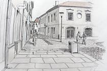 Vizualizace nového náměstí v Poličce