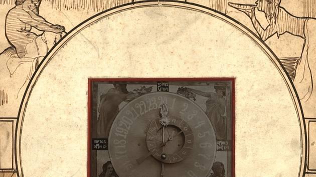 Současný stav litomyšlského orloje.