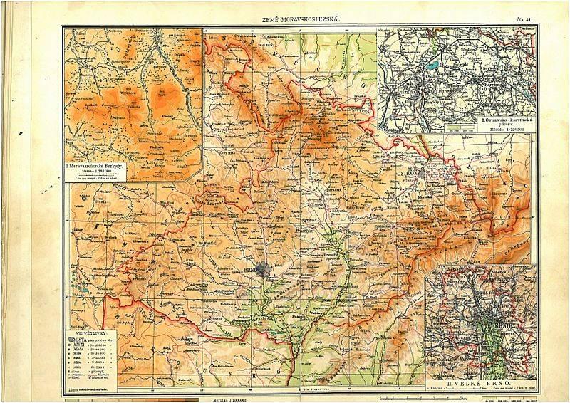 Historická hranice Čech a Moravy.