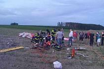 Dvojnásobná tragédie po pádu motorového rogala u Poličky