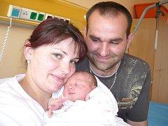 KATEŘINA DANĚČKOVÁ.  Holčička se narodila 6. května v 6.01 hodin v litomyšlské porodnici. Vážila 3,25 kilogramu a vážila 49 centimetrů. S rodiči Kateřinou a Michalem a šestiletým bráškou Míšou bude bydlet  v Poříčí.