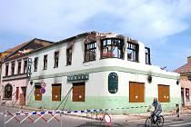 Ve čtvrtek se začalo s likvidací hotelu Morava v centru Moravské Třebové.