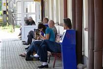 Stávka na nádraží ve Svitavách