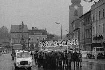 Svitavské námêstí se stalo v roce 1968 centrem odporu obyvatel.