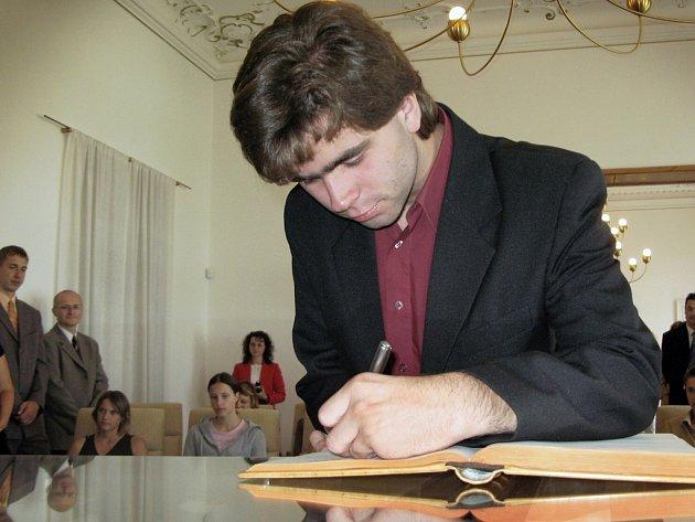 Vladimíř Velešík z gymnázia se stal nejlepším studentem roku ve Svitavách.