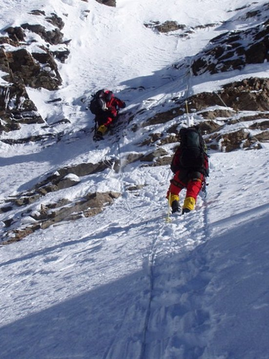 Výškový tábor ve stěně K2.