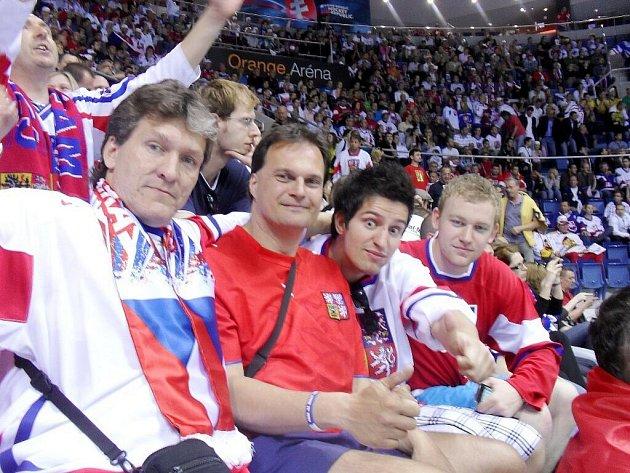 Fandíme hokejistům na MS na Slovensku