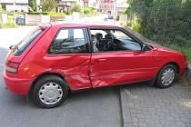 Nehoda na ulici Lidická v Litomyšli