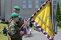 Slavnostní vyřazení maturantů vojenské střední školy v Moravské Třebové.