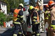 Regionální soutěž profesionálních hasičů z Pardubického a Královéhradeckého kraje.
