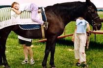 Jízda na koni postiženým lidem posiluje svalstvo stejně jako malému Vojtovi.