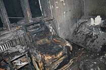 Požár domu v Litomyšli.
