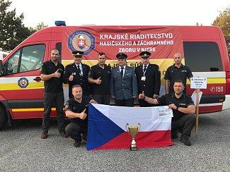 Hasiči ze Svitav přivezli z Nitry z mezinárodní soutěže zlato.
