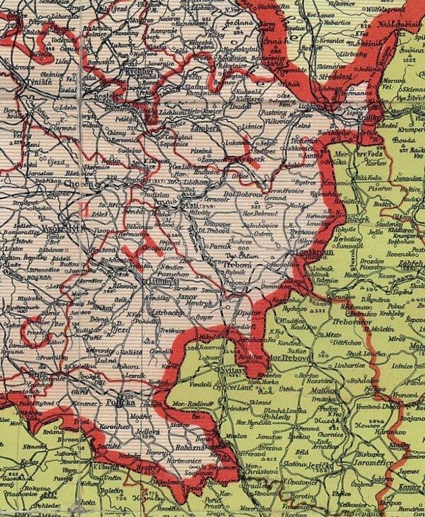 Historická hranice Čech a Moravy v oblasti dnešního Pardubického kraje.