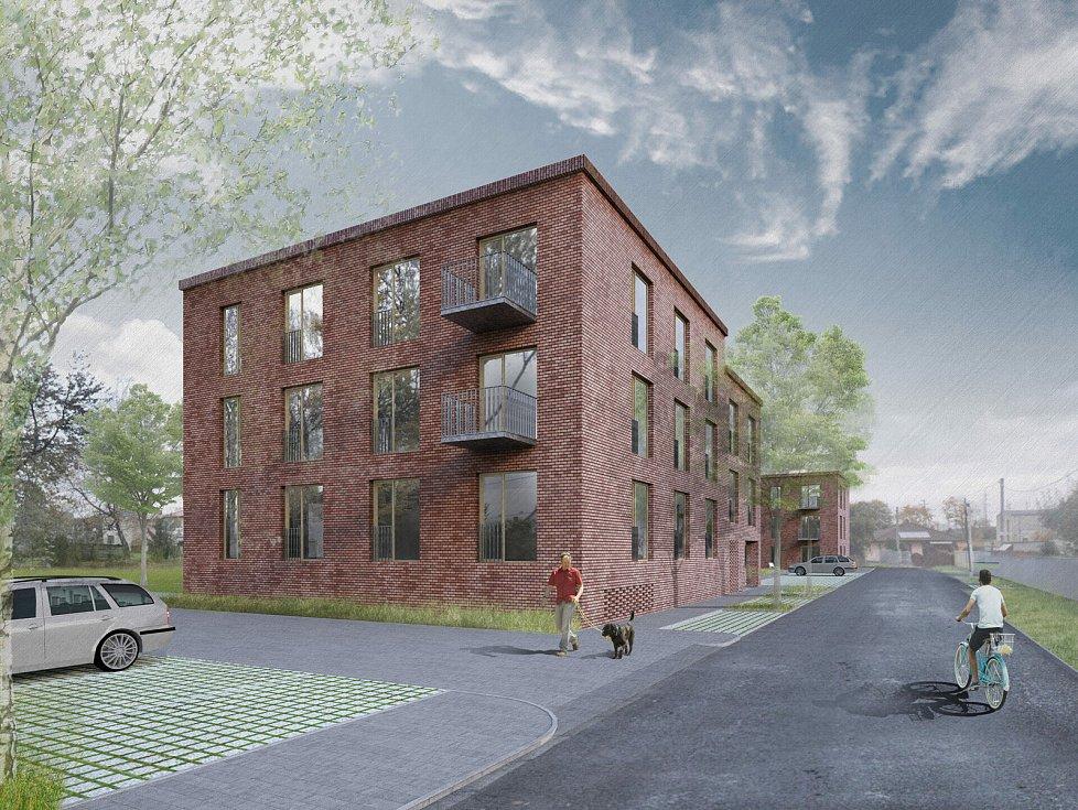 Vítězný návrh na přestavbu dětského domova v Poličce na byty.