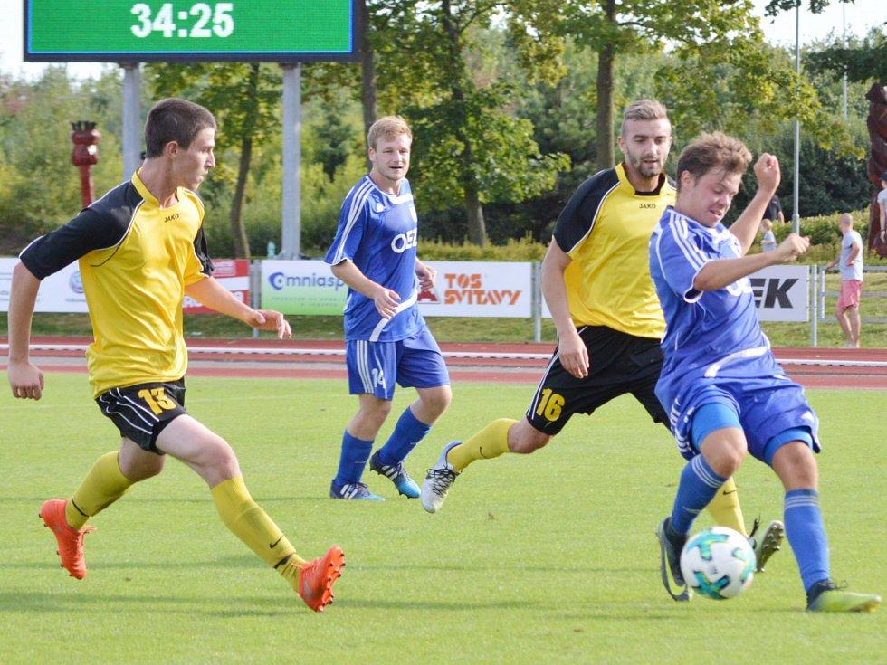 Z utkání TJ Svitavy vs. FK Letohrad (1:5).