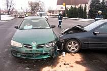 Ve středu se v Litomyšli střetla dvě vozidla.
