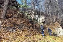 Požár lesní paseky u Rohozné.