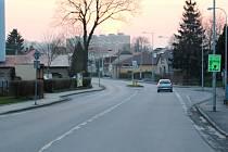 Místo nehody na ulici Hegerova v Poličce.