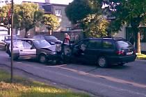 Dopravní nehoda na Pražské ulici ve Svitavách ze dne 19. srpna.
