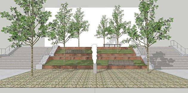 Městská architektka Zdeňka Vydrová se zabývá novou podobou schodiště a jeho okolím na ulici 9. května. Jednou z variant, kterou řeší, je i vybudování vodního prvku nebo uměleckého díla k výročí 100 let Československé republiky.