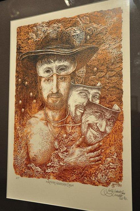 Juraj Jakubisko zahájil výstavu grafik v Litomyšli.