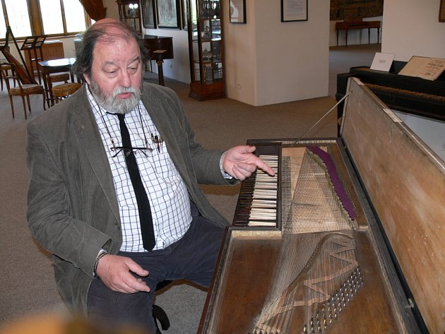 Petr Šefl z Českého muzea hudby v Praze, jeden z autorů expozice.