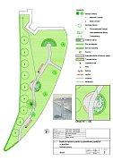 Sadová úprava parku s pomníkem padlých v Jevíčku