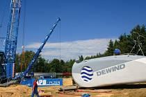 Ilustrační foto: U ŽIPOTÍNA otevřeli vloni další dvě větrné elektrárny. Na stavbu vrtulí se chystají také Svitavy.