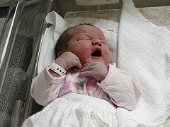AGÁTA NAVRÁTILOVÁ. Narodila se 26. května Ivaně a Jaroslavovi z Trpína. Měřila 51 centimetrů a vážila 3,310 kilogramu. Má sestřičku Vanesku.
