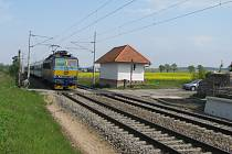 Železniční přejezd.
