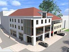 V proluce vedle městského dvora vyrůstá nová zástavba.