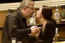 Vladimír Mátl hraje v představení Dva hostinského a manžela, jehož žena při dávné autonehodě zabila jejich syna. Tereza Fialová bravurně ztvárnila milující manželku, přesto však zahořklou ženu, která se nesrovnala s odchodem dítěte.
