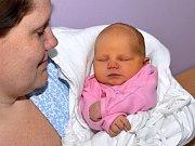 NELA ČERNÁ. Narodila se 8. prosince Pavlíně Vajrauchové a Jaroslavu Černému z Opatova. Měřila 50 centimetrů a vážila 3,4 kilogramu. Má sourozence Matyáška a Járu.