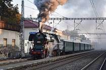 Parní lokomotiva na Svitavsku.
