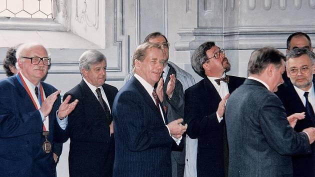Václav Havel jako prezident uspořádal v roce 1994 setkání sedmi evropských prezidentů v Litomyšli.