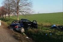 Ve středu ráno došlo na silnici I/35 u obce Tržek k havárii osobního vozidla.