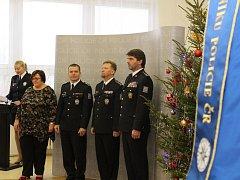 Předávání ocenění nejlepším policistům a občanským zaměstnancům tohoto roku.