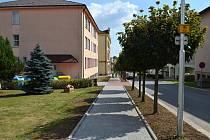 Nový chodník v Bystrém.