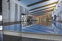 Krytý plavecký bazén v Litomyšli.